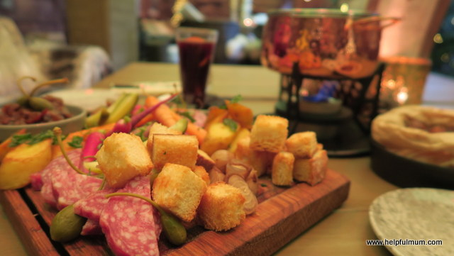 cheese fondue vegetables