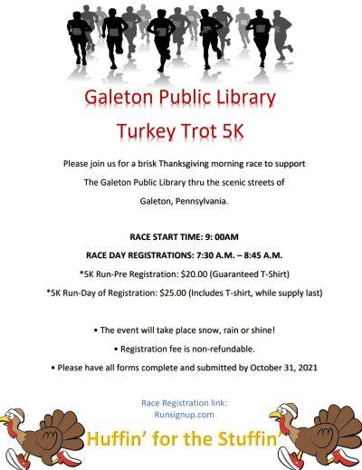 10-31 Galeton Public Library 5k Run Registration