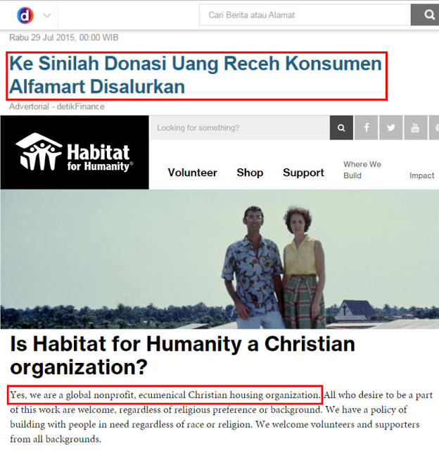 Astagfirullah, Ternyata Donasi Yang Diminta Alfamart Disalurkan Ke Yayasan Penginjil Untuk Membangun..