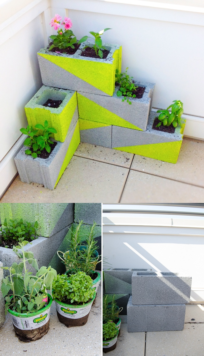 d%2Bjardinera-bloques-hormigon-muy-ingenioso-1 25 Stunning Planter Concrete Blocks Alternatives to Transform Your Backyard And That Are All Your Front Porch Needs Interior