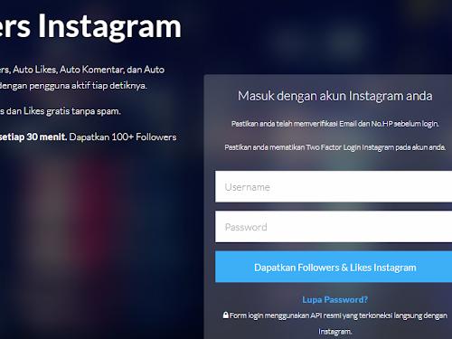Auto Followers Instagram Gratis Terbaik di Indonesia, Ribuan Followers Baru Tiap Hari