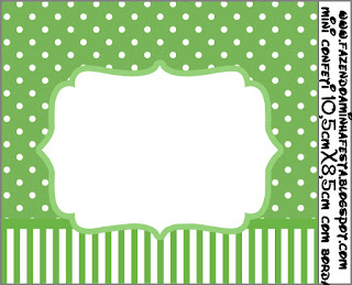 Green and Polka Dots: Free Printable Candy Bar Labels.