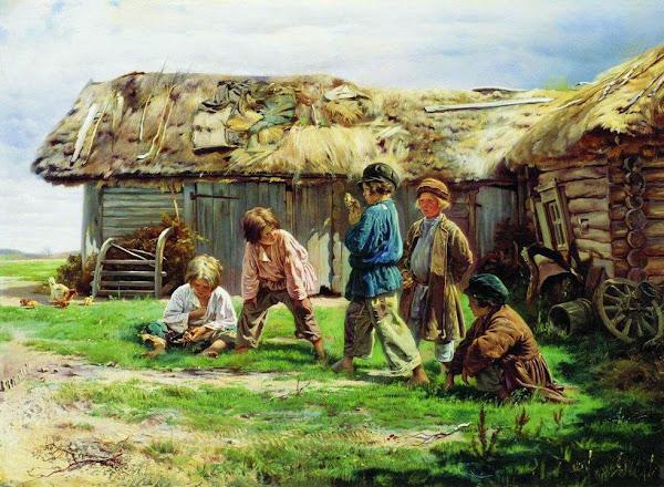 Маковский Владимир Егорович - Игра в бабки. 1870