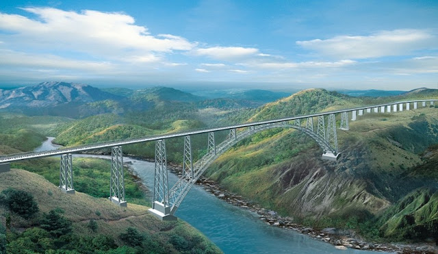 Chenab Bridge in India