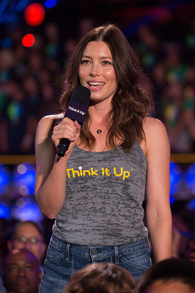 Jessica Biel at Think It Up