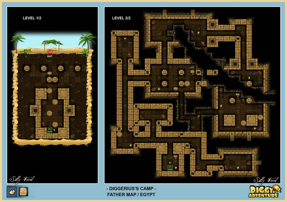 Diggy's Adventure Walkthrough: Egypt Father Quest / Diggerius Camp