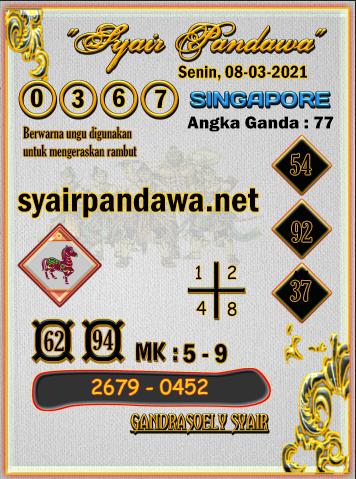 Gambar Syair Pandawa Sgp senin 08 maret 2021