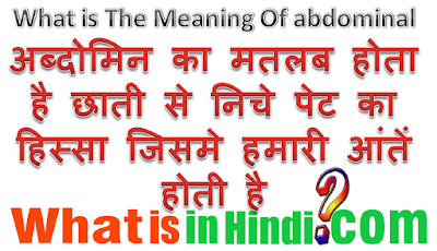 What is the meaning of Abdominal in Hindi