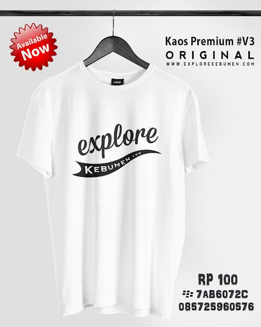 Kaos Explore Kebumen V3 Putih