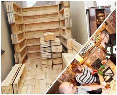 Construir un pub-bar con cajas de madera idea vecinal