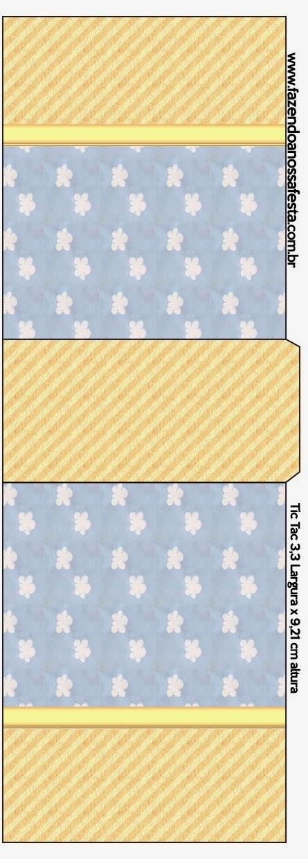 Etiqueta Tic Tac para imprimir gratis de Nubes.