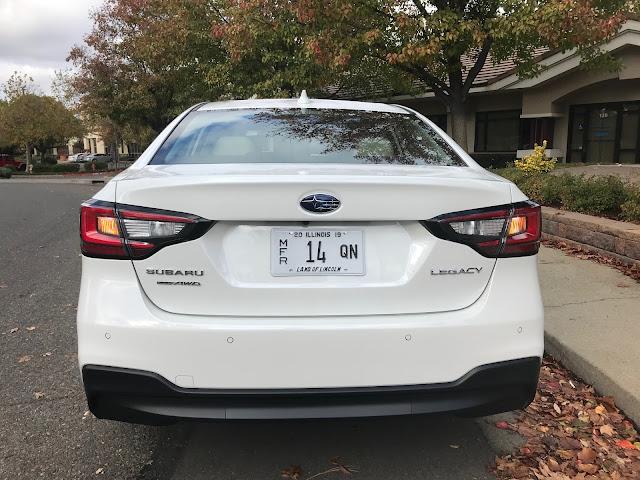 Rear view of 2020 Subaru Legacy Limited