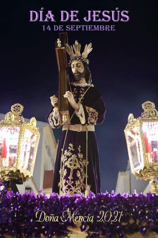 Cartel anunciador del Día de Jesús 2021 en Doña Mencía. 14 de Septiembre