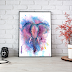↠ Watercolor Elephant Art Print