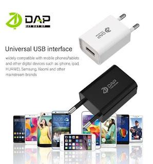 Adaptor Charger DAP D-AT6 Adapter Single Usb 1A Fast Charging Original