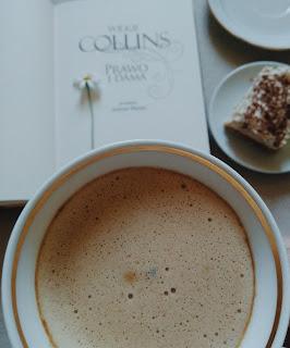 kawa książka ciasto stokrotka