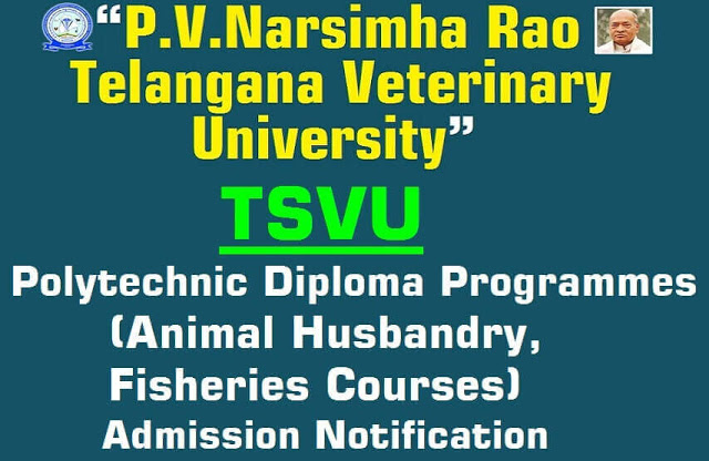 TSVU,Polytechnic Animal Husbandry,Fisheries courses,admission notification