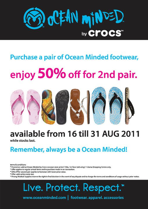 9c9cfbd08 Ocean Minded by Crocs Grand Opening Promotion at 1 Utama Shopping Centre  (16 August - 31 August)