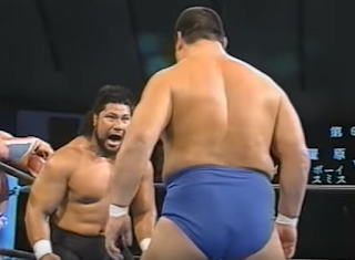 SWS/WWF SuperWrestle 1991 - King Haku teamed with Yoshiaki Yatsu to face British Bulldog and Ashura Hara