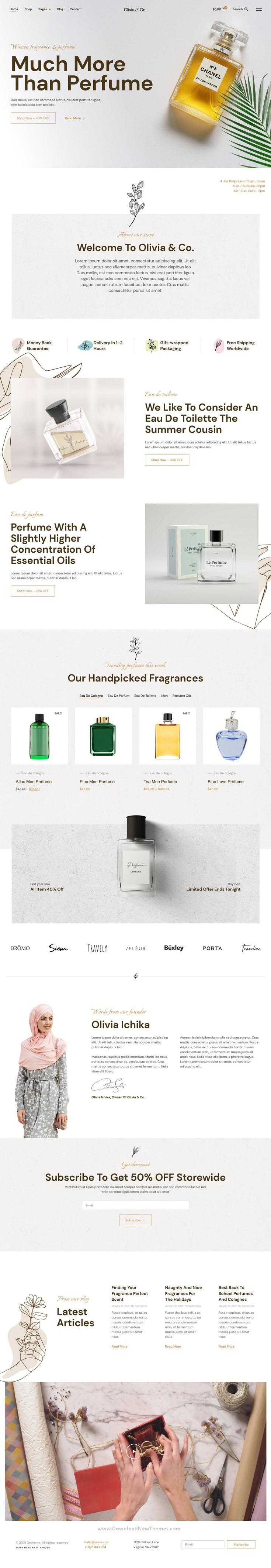 Perfume & Fragrance WooCommerce Template Kit