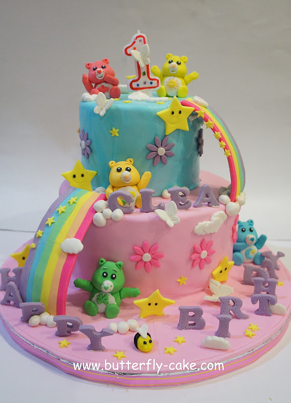 Butterfly Cake Care Bear Cake