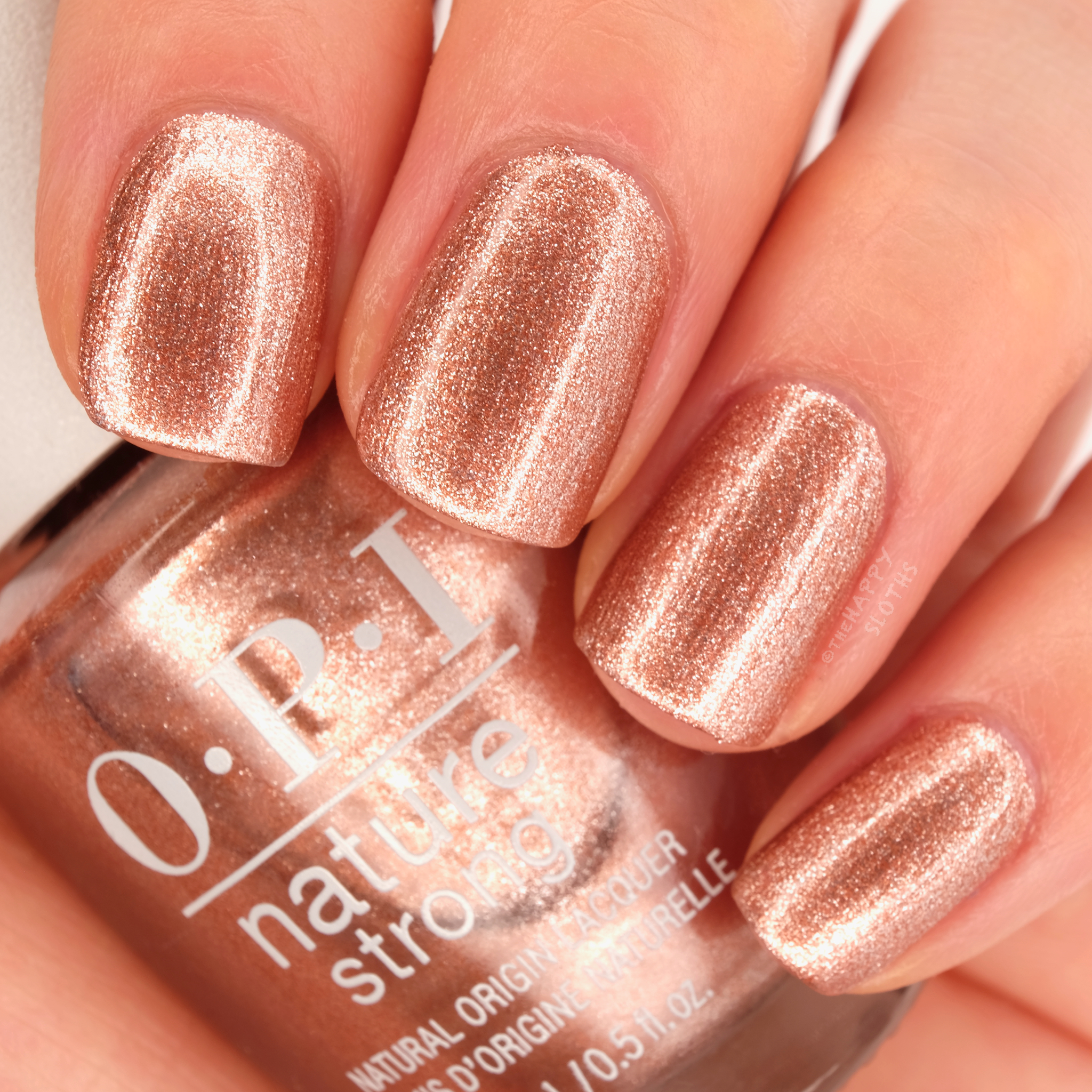 OPI Nature Strong   Intentions are Rose Gold: Review and Swatches