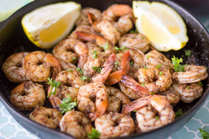 Easy Stove Top Jerk Shrimp