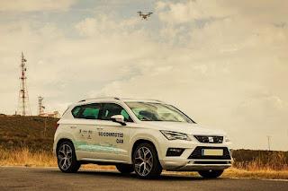Un dron y un coche conectado ya reducen el riesgo de accidentes también en zonas rurales