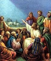 Teaching his disciples