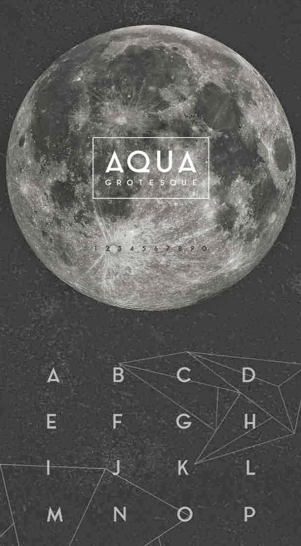 Aqua Grotesque font