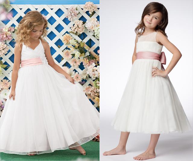 Vestido branco para Daminha de Honra