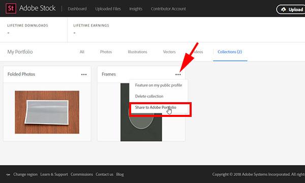 publish-to-adobe-portfolio How to Publish Adobe Stock Collection to Adobe Portfolio templates