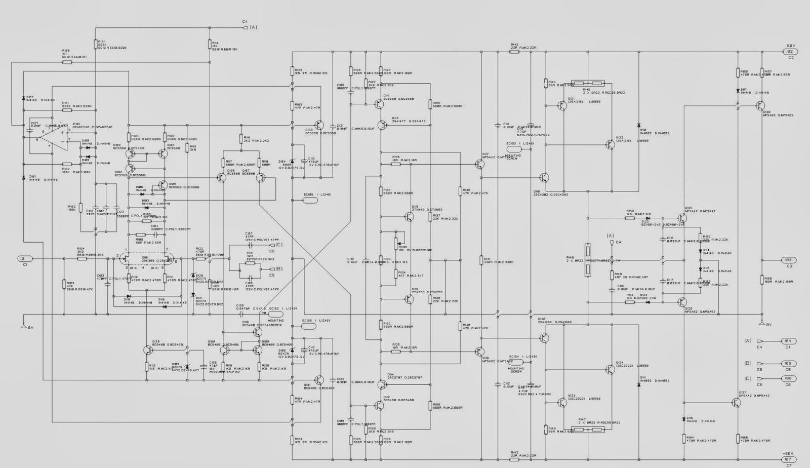 ELECTRONIC EQUIPMENT REPAIR CENTRE : AUDIOLAB 8200M SCHEMATIC (CIRCUIT DIAGRAM )  POWER