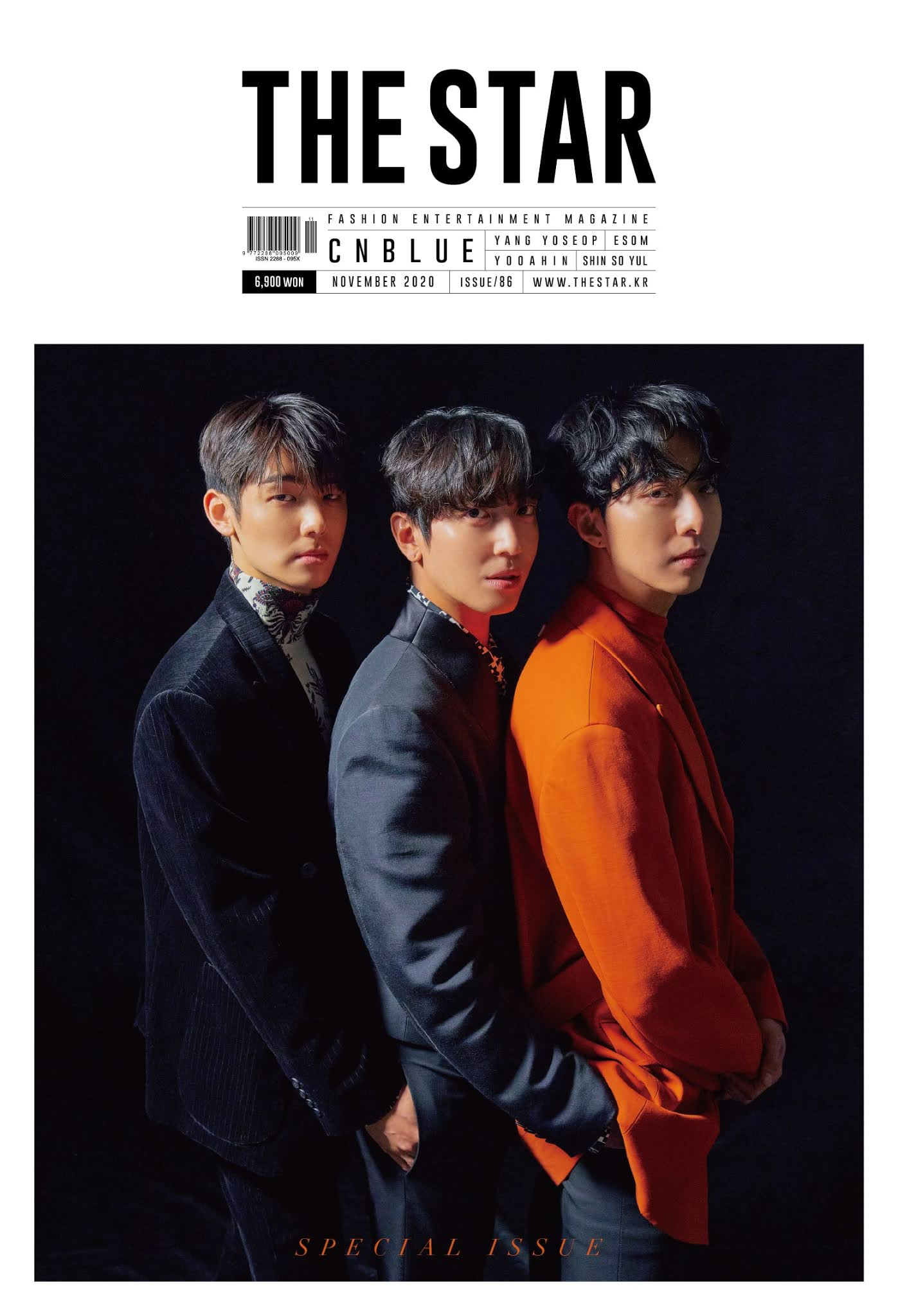 CNBLUE Talks About Preparing for Comeback as Three Members on 'THE STAR' Magazine