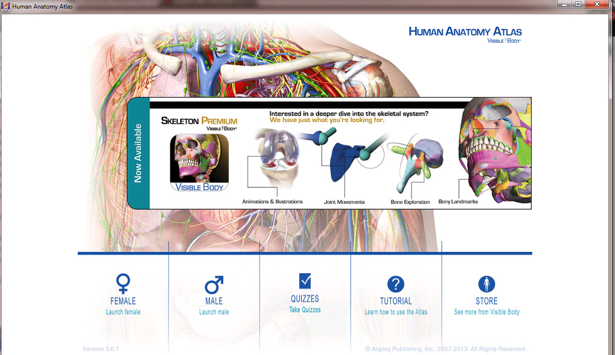 Visible Body Human Anatomy Atlas 301 Portable Software Updates
