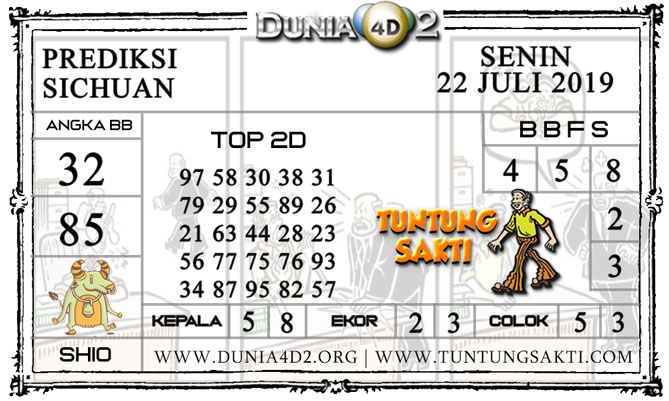 """Prediksi Togel """"SICHUAN"""" DUNIA4D2 22 JULI 2019"""