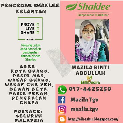 Pengedar Shaklee Pasir Mas 0174425250