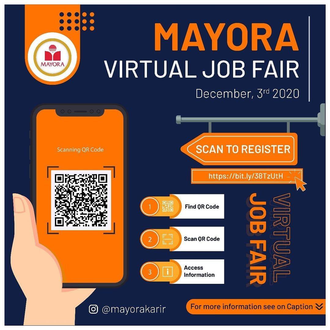 Lowongan Kerja Mayora Virtual Job Fair Seluruh Indonesia 2020