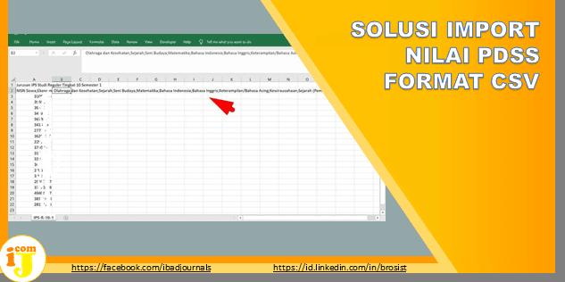 SOLUSI IMPORT NILAI PDSS FORMAT CSV