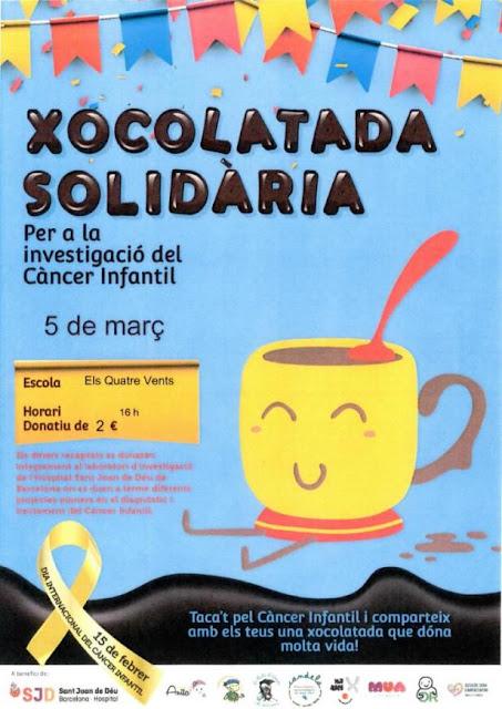 Esguard de Dona - Xocolatada Solidaria Contra el Càncer Infantil 5 de març de 2018