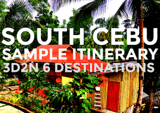 South Cebu Sample Itinerary