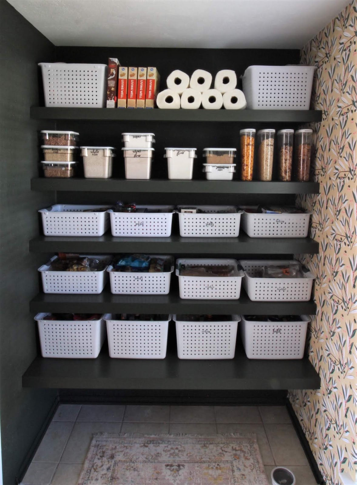 We've lived in our house a whole year!! Check out the tour and a round up of projects I've done. It's been great! | House Homemade Organized pantry