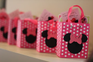 Pungute roz personalizate botez tematic Minnie Mouse