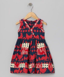 Dress batik anak perempuan cantik