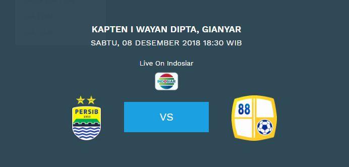 Jadwal Persib Bandung vs Barito Putera di Bali Sabtu 8 Desember 2018