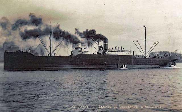 US freighter Collamer, 5 March 1942, worldwartwo.filminspector.com