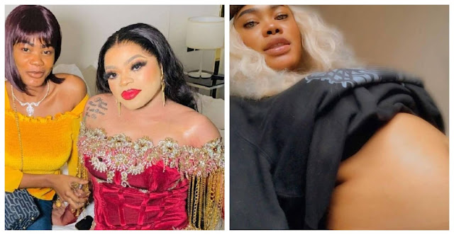 Bobrisky don Knack your belle- Nigerians reacts to the Pregnancy Photo of Ivory Coast lady, Oye Kyme who tattooed Bobrisky on her laps