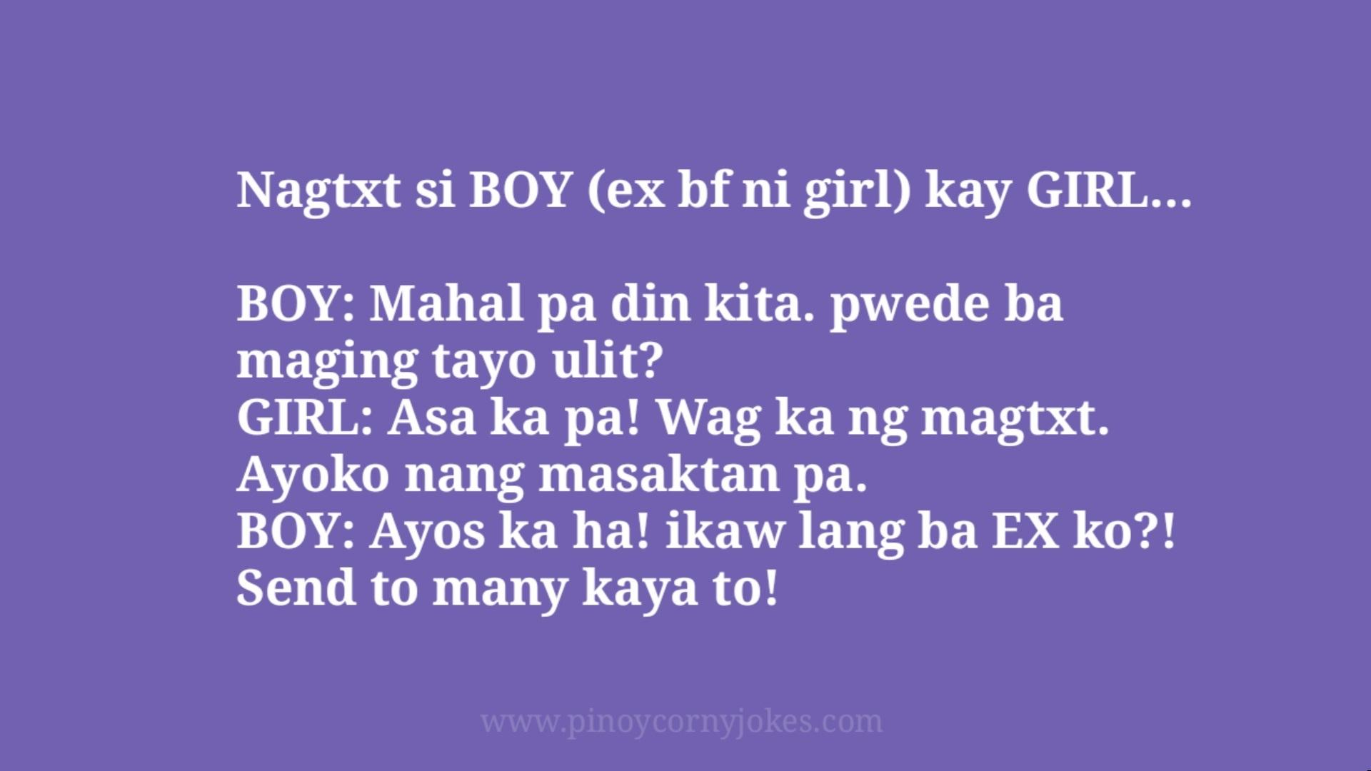 nag txt ex pinoy jokes corny