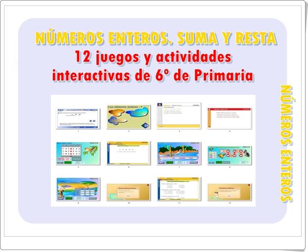 Juegos Educativos De Matematicas Online Numeros Enteros Suma Y