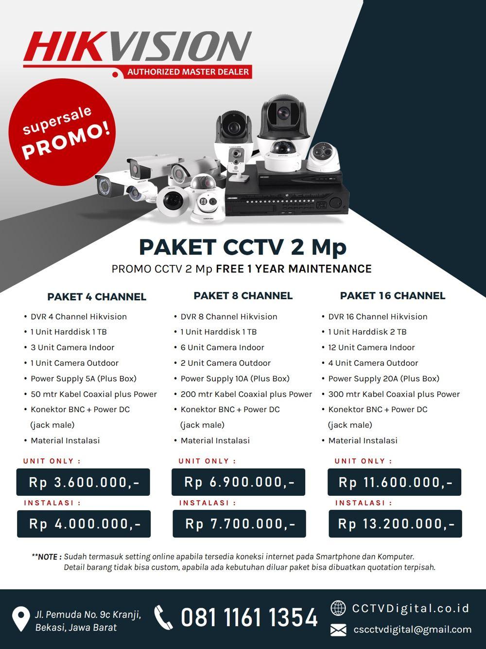 pasang cctv hikvision Medan